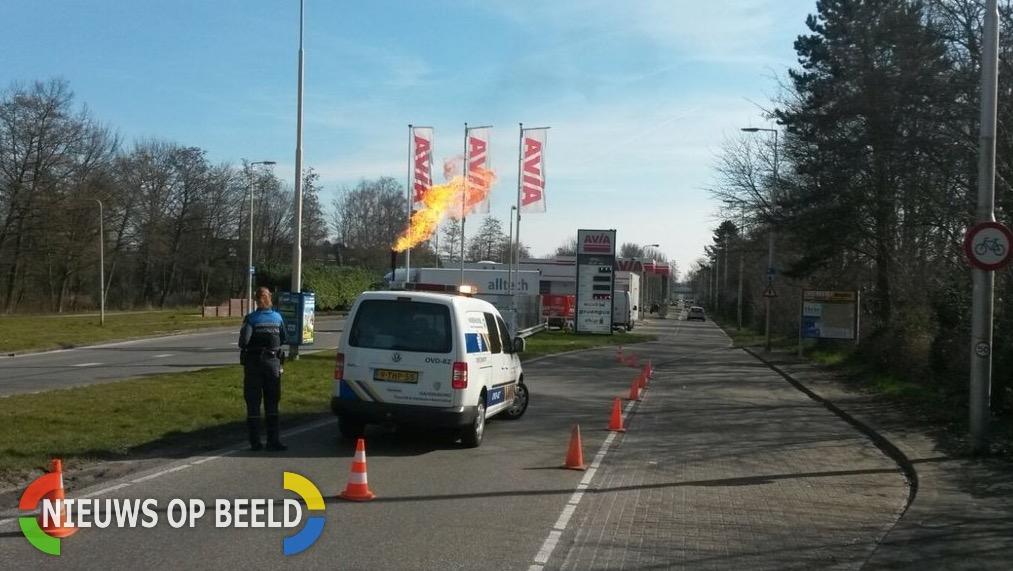 Handhaving grijpt in bij affakkelen gas van tankstation Couwenhoekseweg Capelle aan den Ijssel