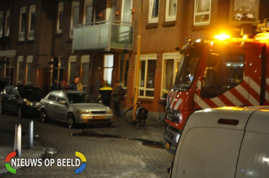 Brandweer rukt uit voor gaslucht Brederodestraat Schiedam