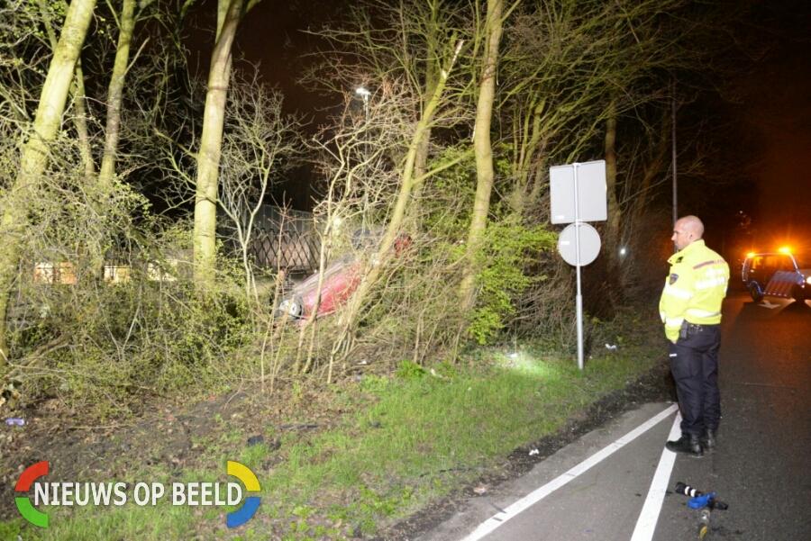 Ravage na bizar éénzijdig ongeval G.K van Hogendorpweg Rotterdam