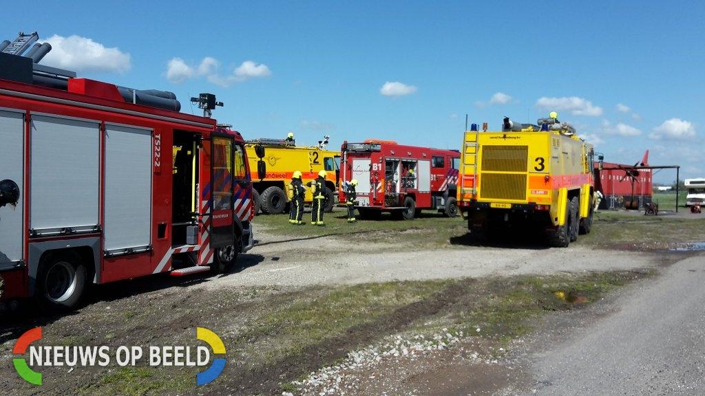 Gezamenlijke oefening hulpdiensten op luchthaven Rotterdam The Hague Airport