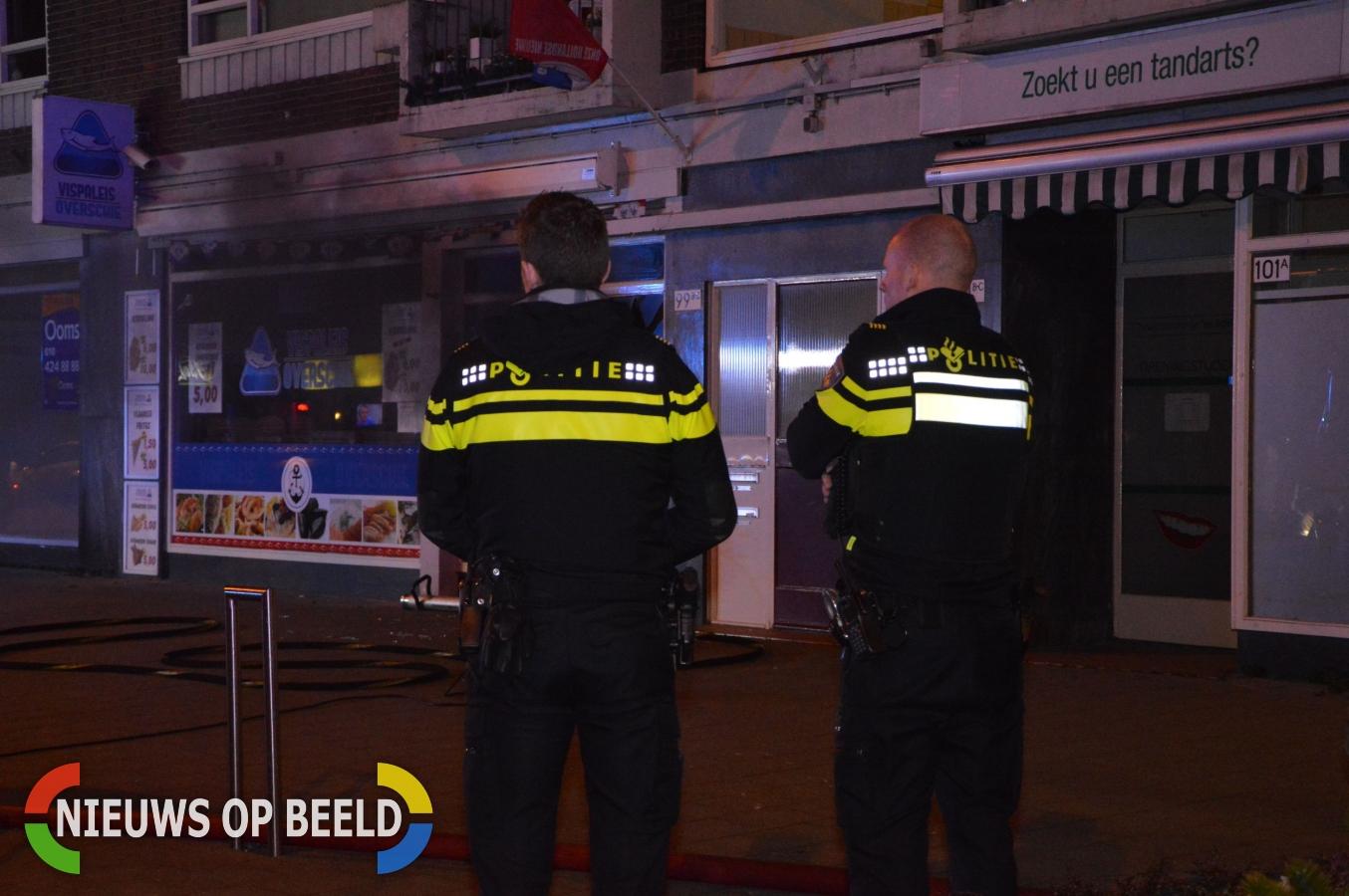 Brand in wasdroger zorgt voor veel schade bij vispaleis Overschie Rotterdam