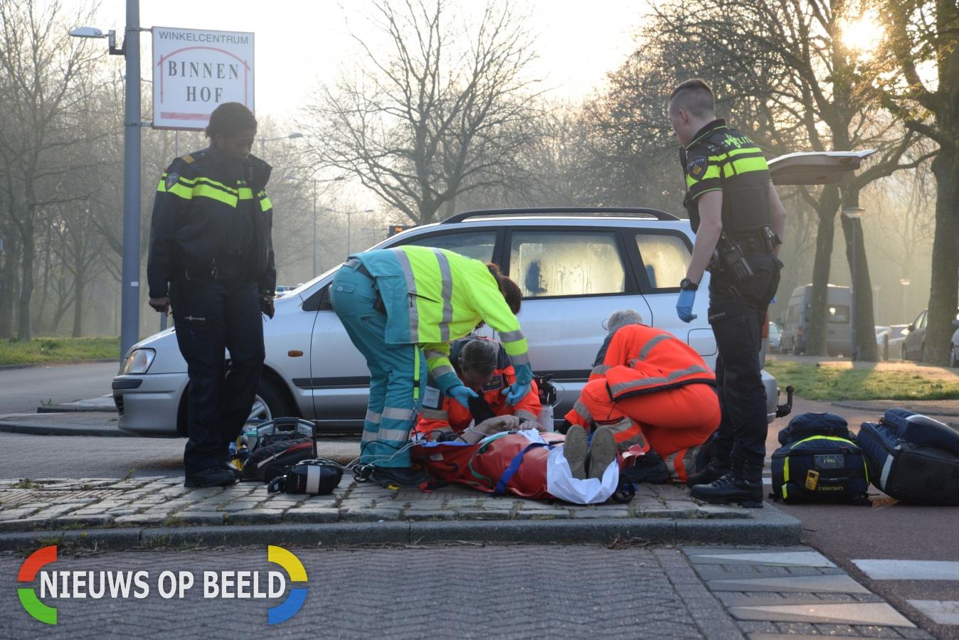 Fietser zwaargewond na aanrijding met auto President Wilsonweg Rotterdam