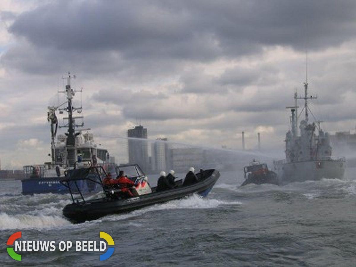 Drie daagse grote oefening met meerdere diensten in Rotterdamse haven