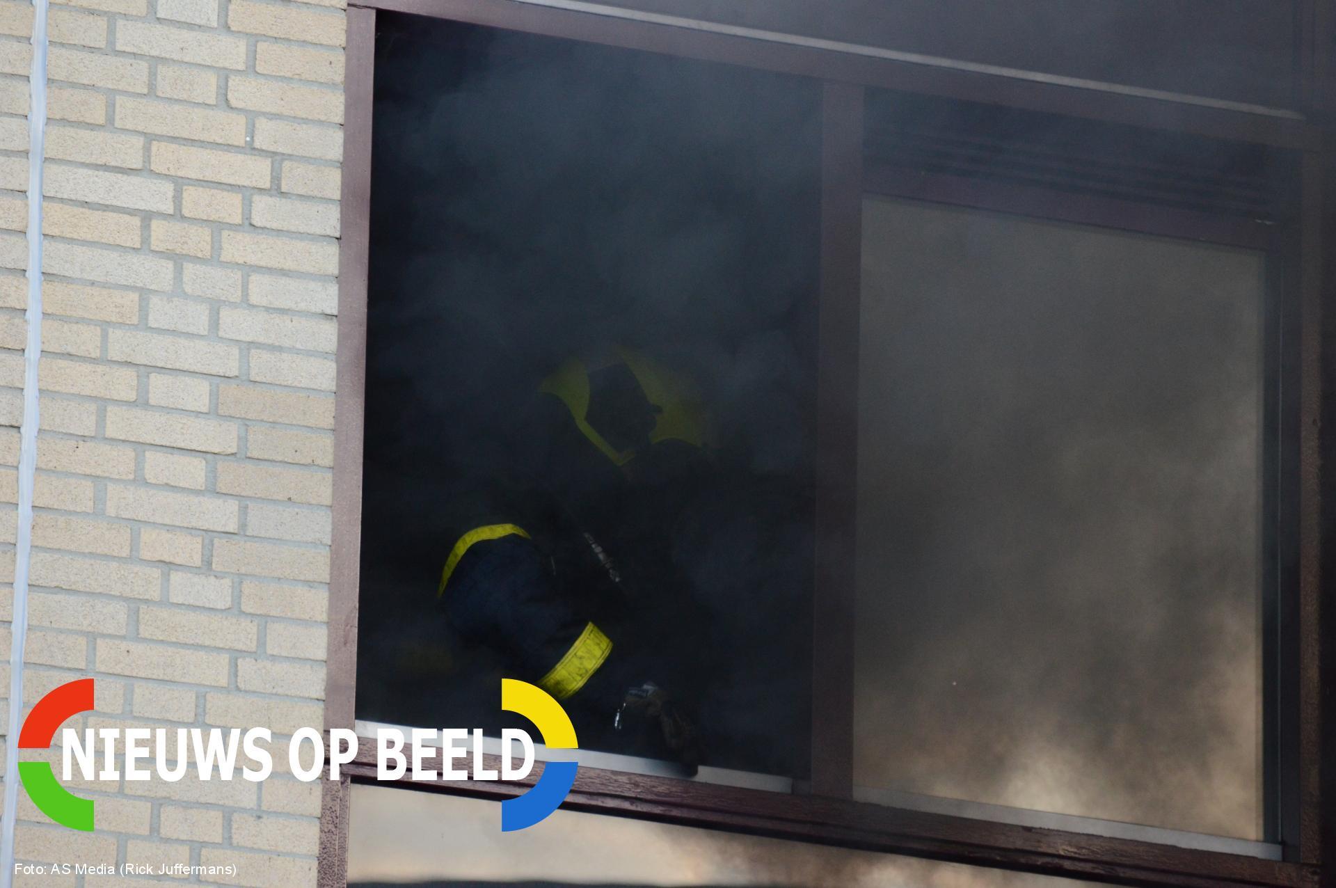 Flinke brand in portiekwoning Juweellaan Zoetermeer