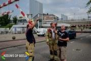 Brandweer haalt los hangende hoogtebalk weg Hofhoek Poortugaal