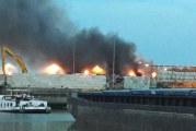Zeer grote brand van Gansewinkel Ophemertstraat Rotterdam GRIP 1