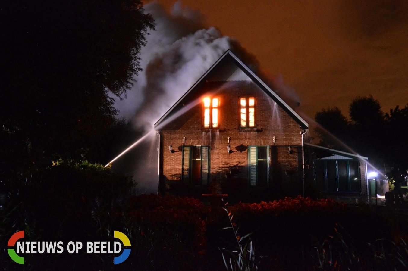 Uitslaande brand in woonboerderij Kerkweg Vierpolders