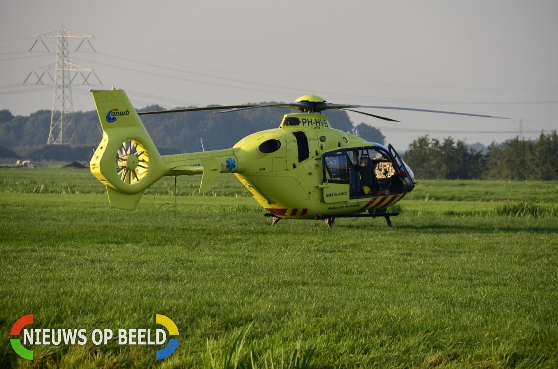 Traumahelikopter ingezet bij incident op boerderij Westeinde Berkenwoude