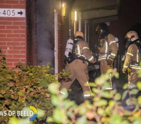Bank tegen gevel van woning in brand gestoken Zevenkampse Ring Rotterdam