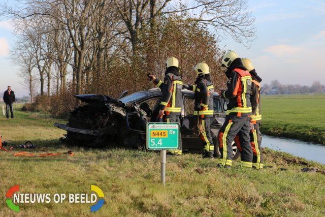 Meerdere gewonden bij zwaar ongeval Provincialeweg N445 Rijpwetering - Nieuws op Beeld