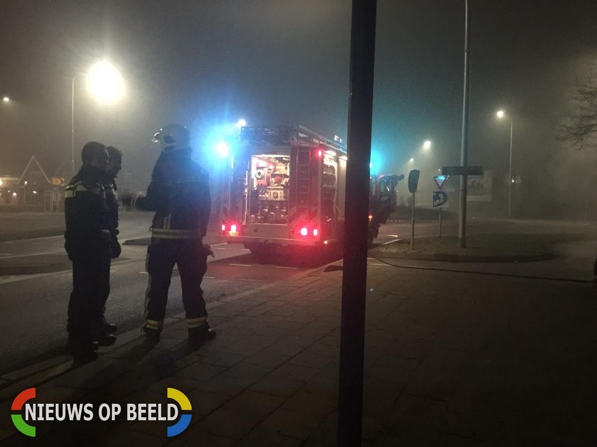 Scooter brand uit op Provincialeweg Haastrecht