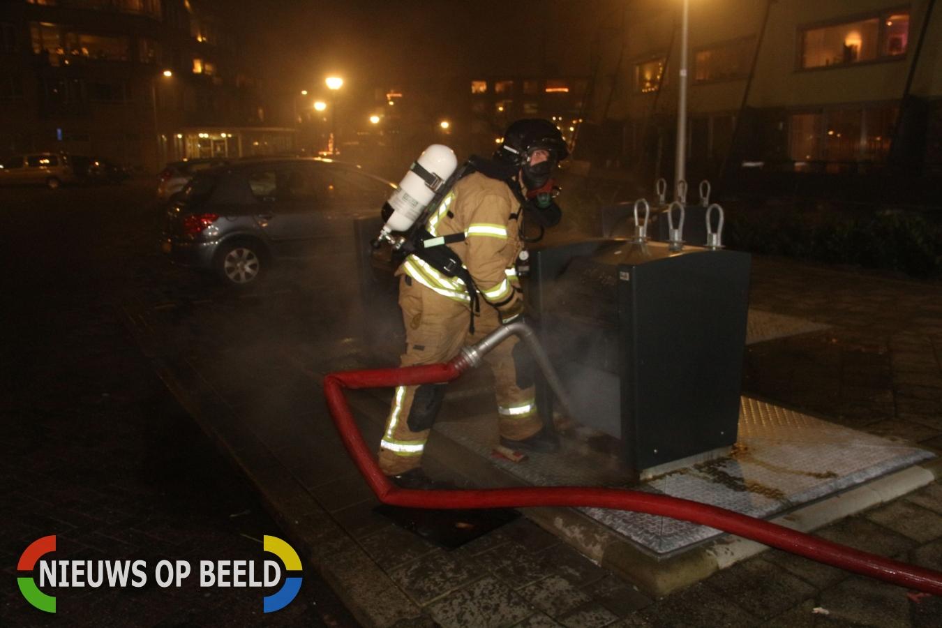 Twee containerbranden Puccinipassage Capelle aan den IJssel