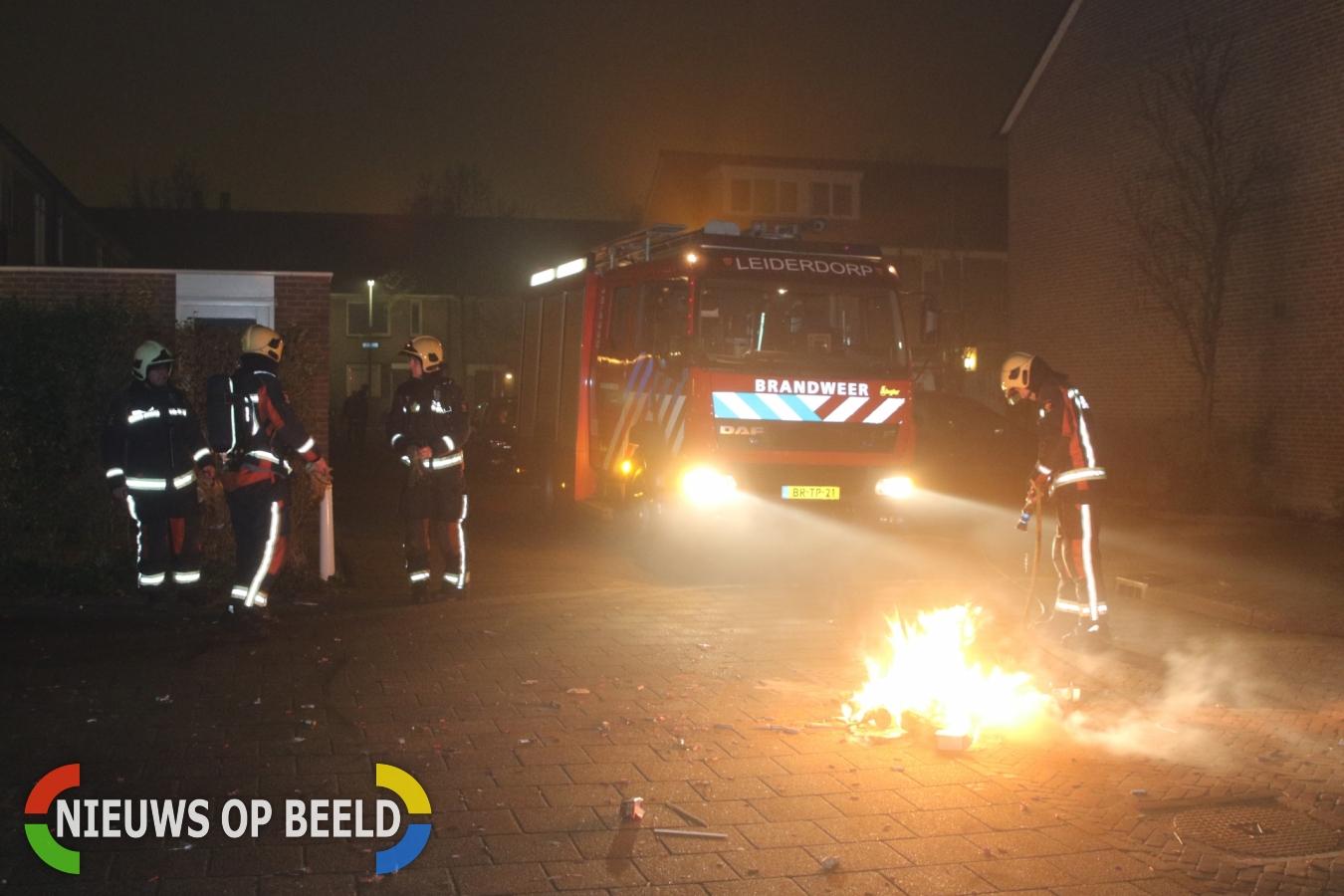 Brandweer druk met verschillende brandjes Mauritssingel Leiderdorp