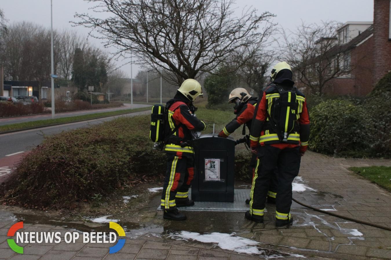 Brandweer rukt uit voor verschillende branden Veluwemeerlaan Leiden