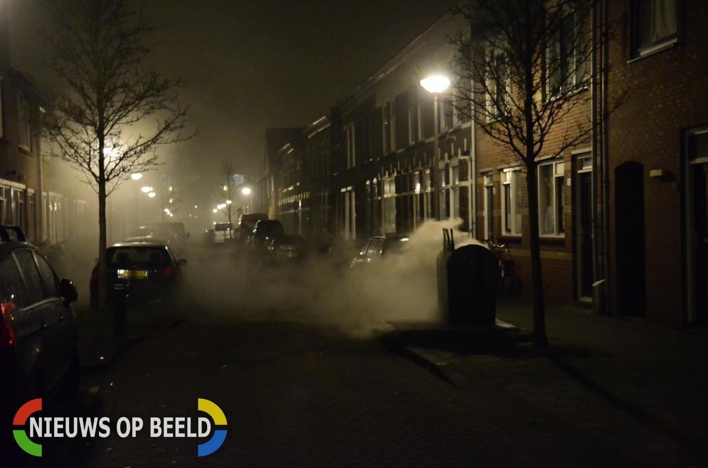 Ondergrondse container in brand P.C. Bothstraat Gouda