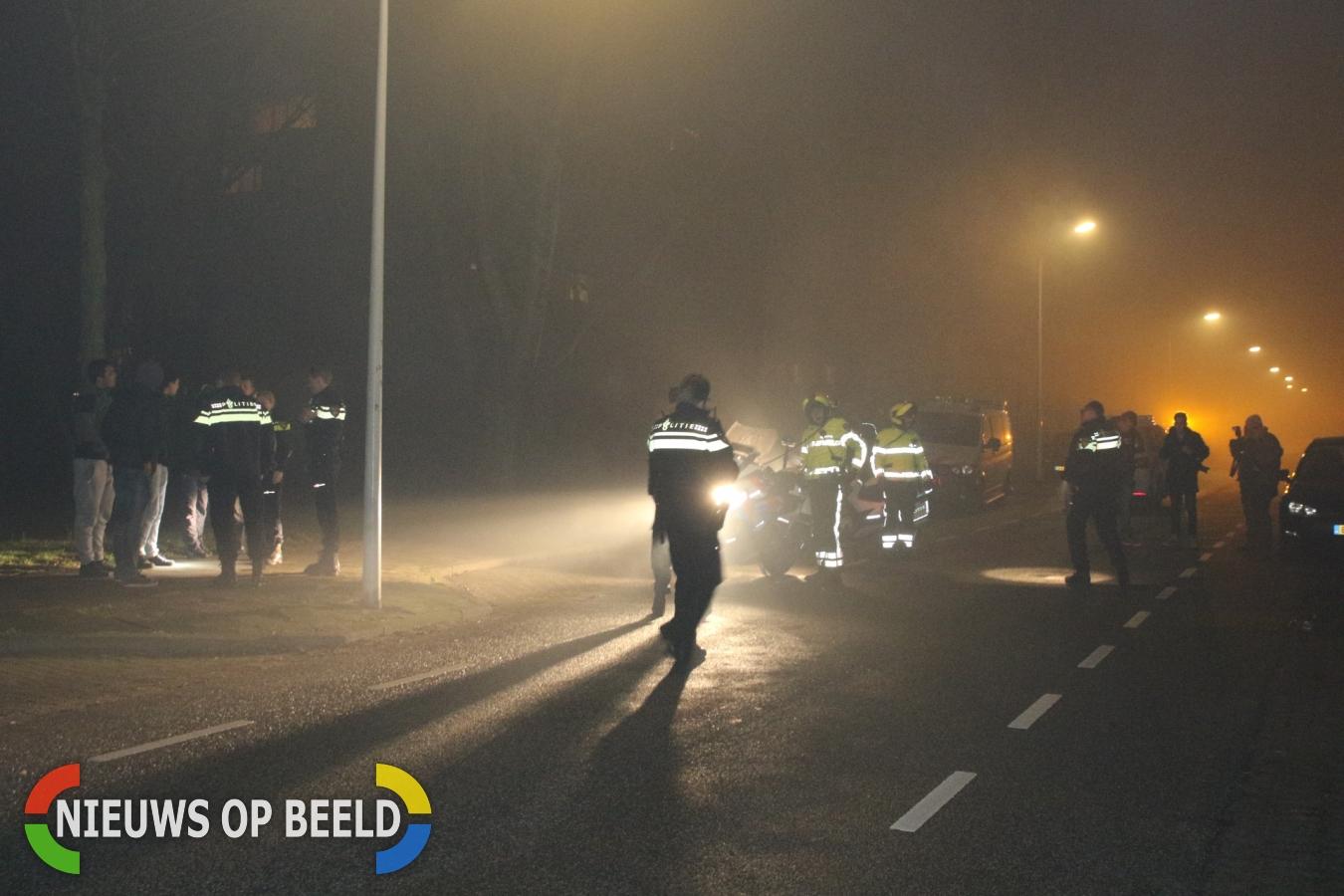 Politie vericht onderzoek na bekogeld te worden met zwaar vuurwerk Brandts Buyskade Leiden