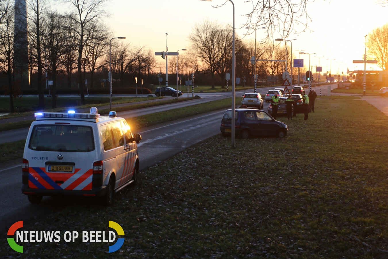 Materiele schade na ongeval Burgemeester Smeetsweg Zoeterwoude