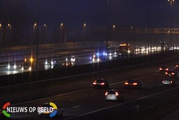 Ongeval op snelweg zorgt voor lange file Rijksweg A4 Leiderdorp