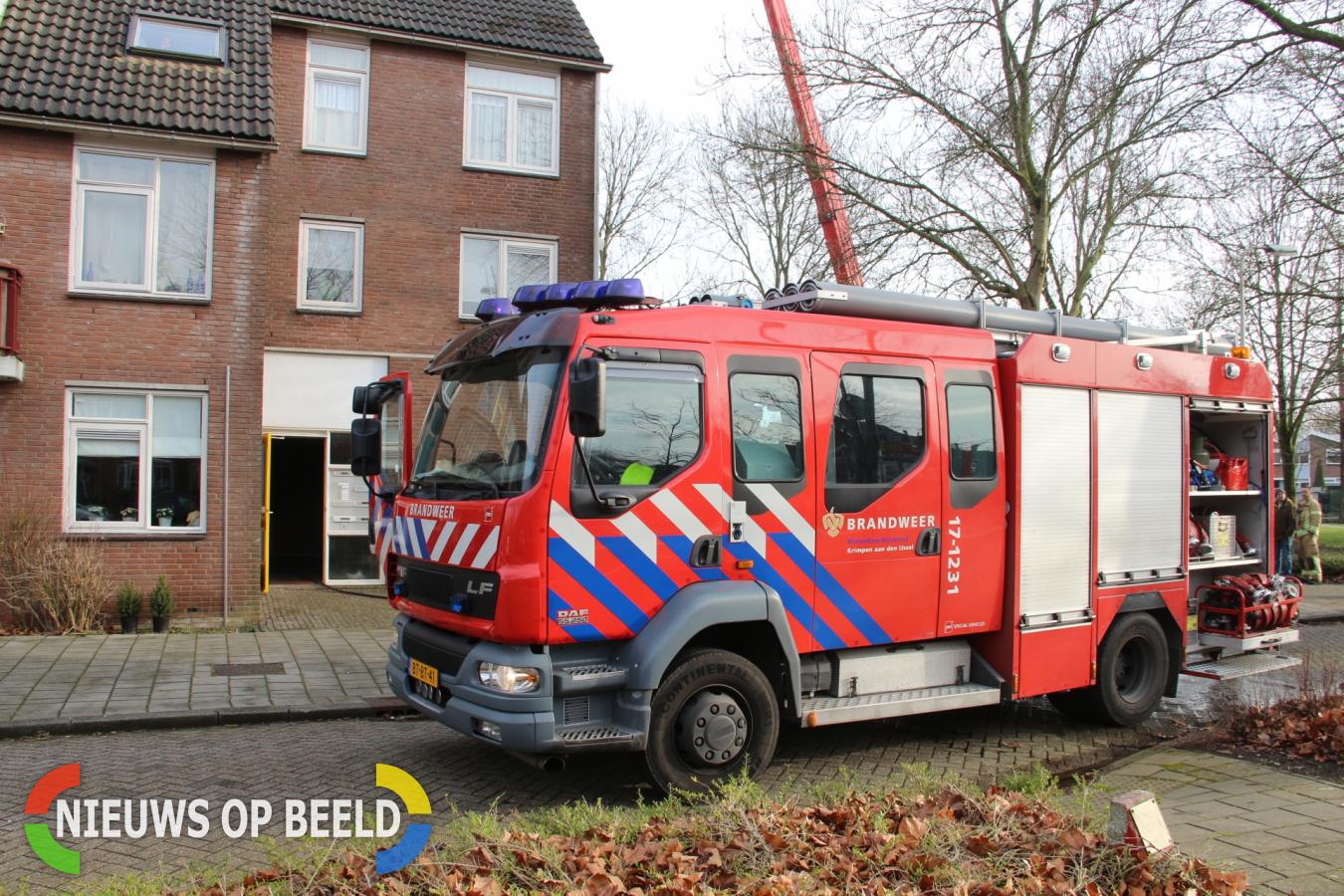 Hennepkwekerij ontdekt bij brand in woning Vederkruid Krimpen aan den IJssel (Video)