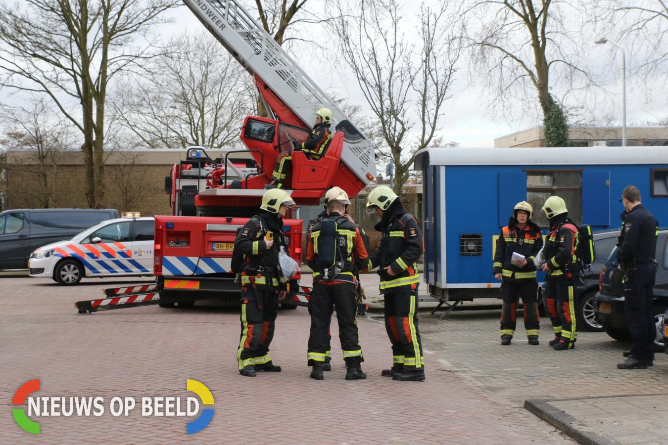 Gasleiding geraakt tijdens werkzaamheden op dak Bartokstraat Leiden