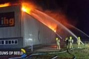Uitslaande brand houtverwerkingsbedrijf Energiebaan Oude-Tonge