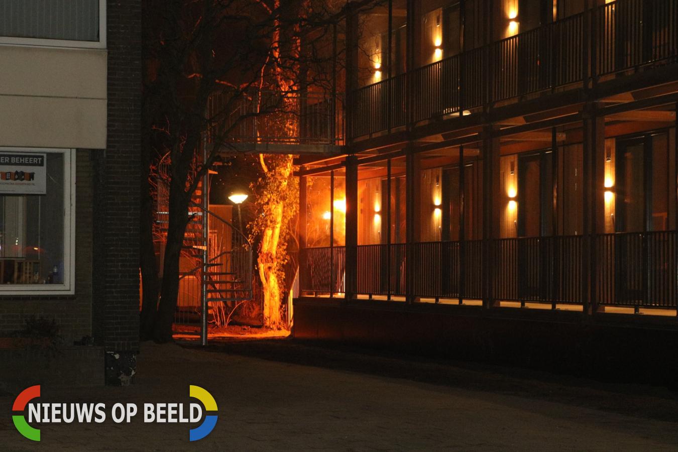 Uitslaande brand in en tegen een woning in aanbouw Sumatrastraat Leiden