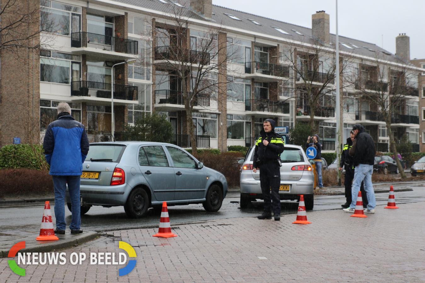 Wederom ongeval tussen twee voertuigen Haagweg Leiden