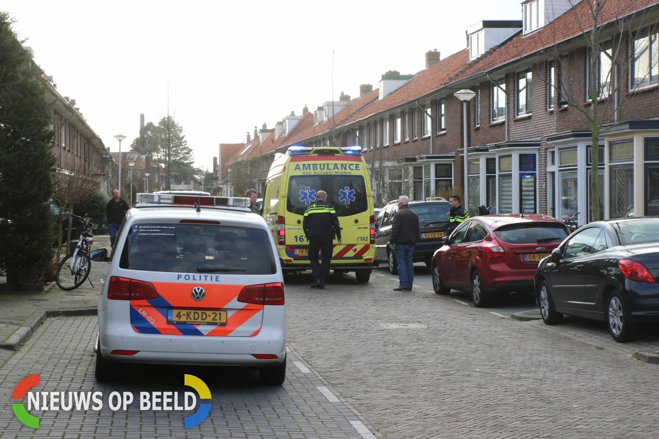 Gewonde bij aanrijding tussen fietser en voetganger Koningstraat Leiderdorp