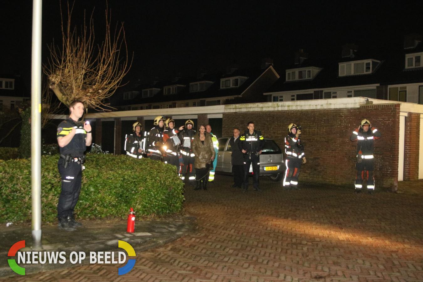 Flinke rookontwikkeling bij brand in autogarage Van der valk Boumanweg Leiderdorp