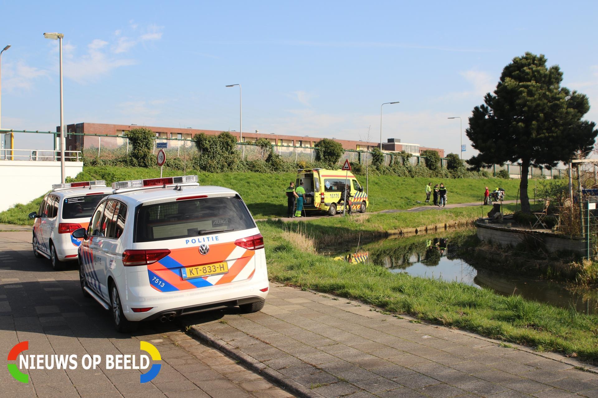Voetganger gewond na botsing met fietser Oude Spoorbaan Leiderdorp