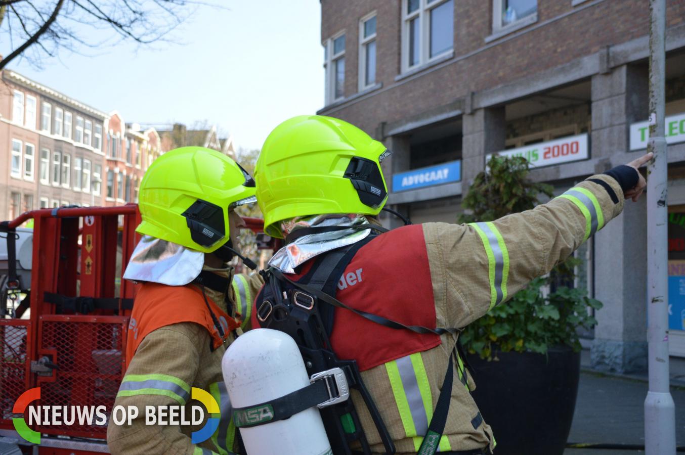 Brandweer uitgerukt voor zeer grote brand Vuurplaat Rotterdam