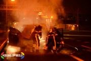 Personenauto verwoest door brand A4 Rijswijk