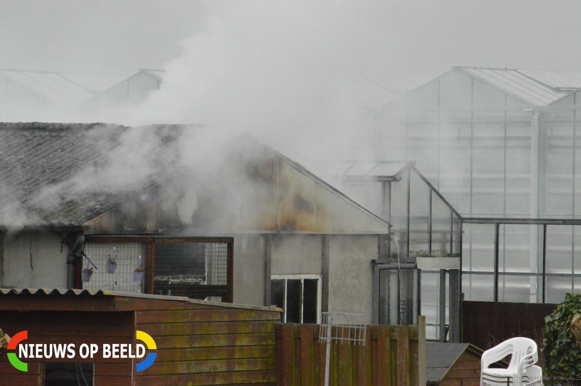 Asbest vrijgekomen bij brand in schuur Delftsestraatweg Delfgauw