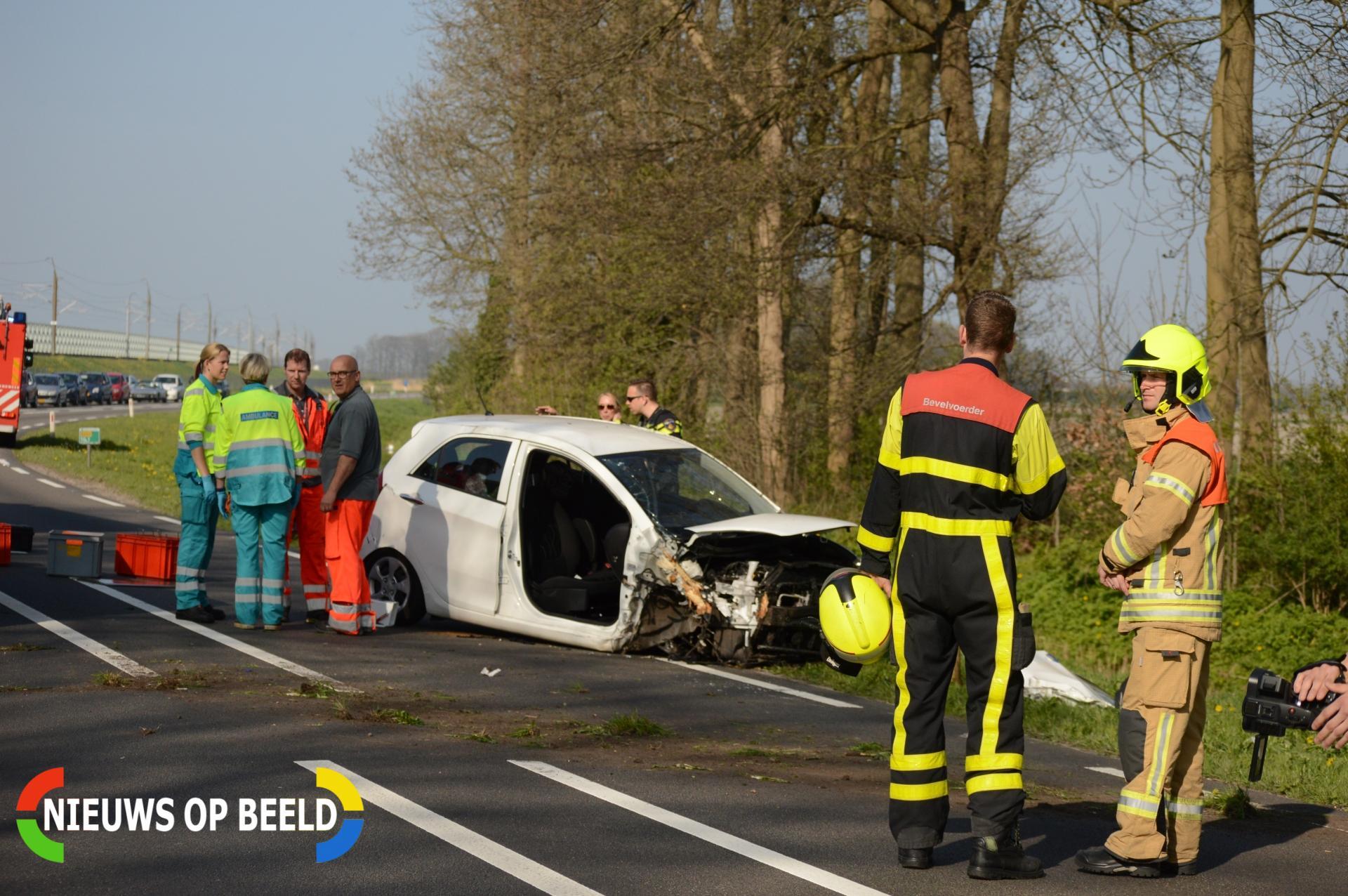 Auto raakt van de weg en belandt tegen boom N209 Bleiswijk