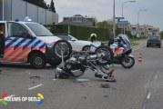 Motorrijder gewond bij ernstig ongeval Industrieweg Heerjansdam