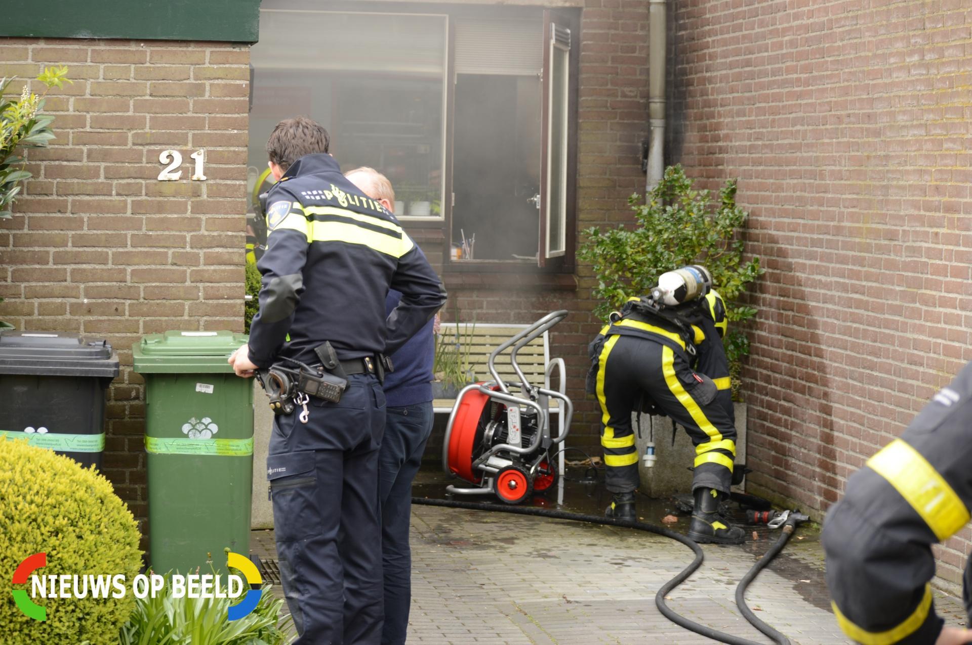 Keuken verwoest na brand in woning Olijfgaarde Zoetermeer