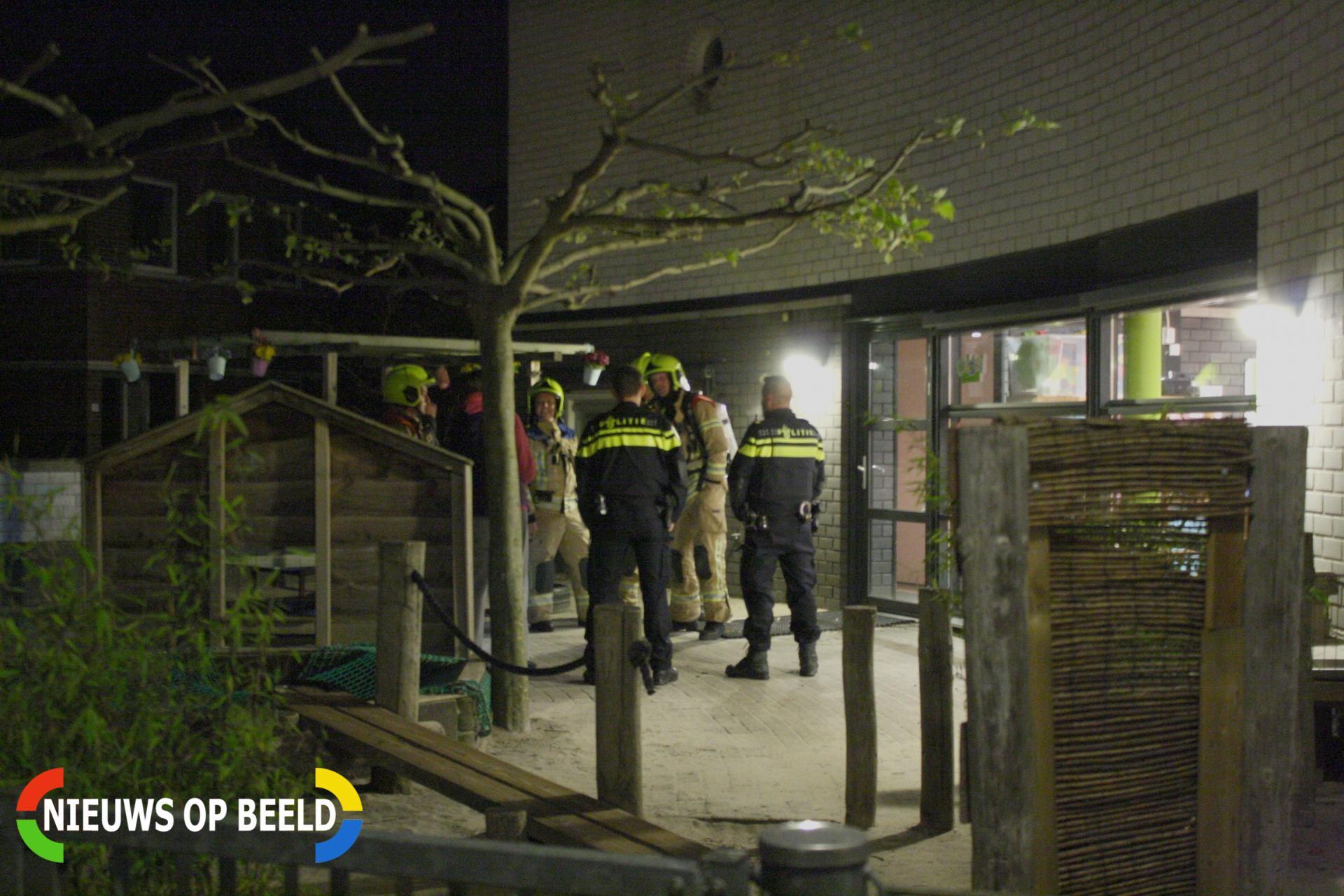 Brandweer rukt uit voor een koolmonoxide melding bij de Droomplaats Kinderopvang Okidoki Stampioendreef Bergschenhoek
