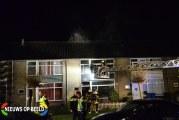 Flinke brand verwoest woning Parelstraat Alphen aan den Rijn