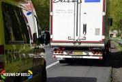Flinke schade bij ongeval tussen auto en vrachtwagen A20 Nieuwerkerk aan den IJssel