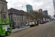 Coolsingel Rotterdam afgesloten voor opbouw Marathon Rotterdam
