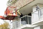 Bewoners van balkons gered bij brand Marnixlaan Vlaardingen