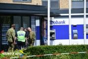 Geldautomaat van de Rabobank is door vandalen vernield Lopikerplein Schoonhoven