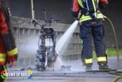 Scooter brandt volledig uit Moerkapellepad Waddinxveen
