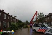 Traumahelikopter zorgt voor veel bekijks Johan de Wittstraat Capelle aan den IJssel