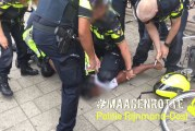 Agressieve straatrover met hulp van omstanders aangehouden Schiekade Rotterdam