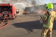 Brand bij afvalverwerker geblust Ophemertstraat Rotterdam