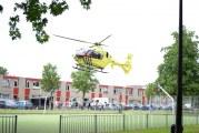 Traumahelikopter landt in woonwijk Vorstmanstraat Gouda