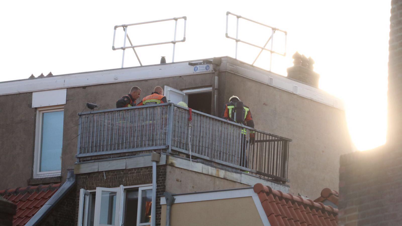 Brandje op balkon door sigaret Kleiweg Gouda