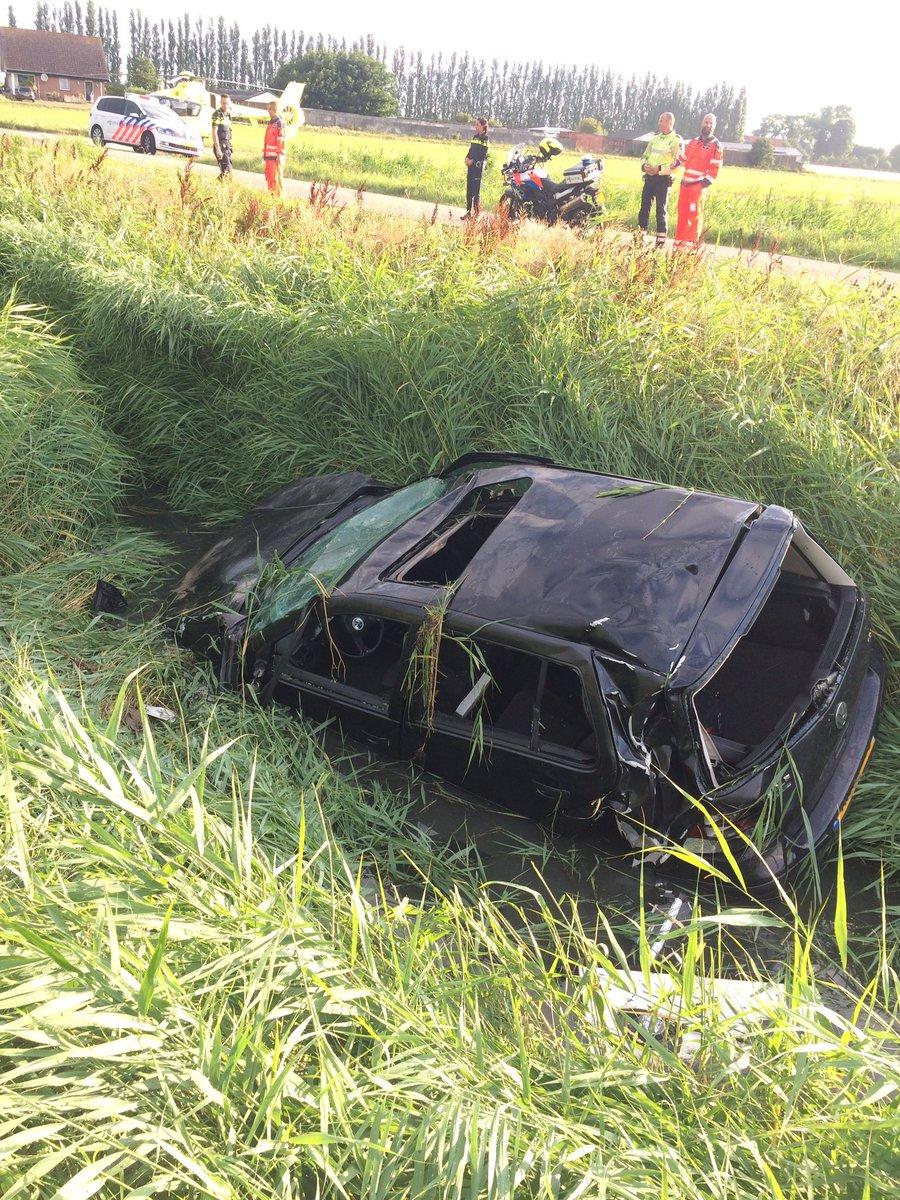 Bestuurder komt met de schrik vrij na zware crash A20 Maassluis