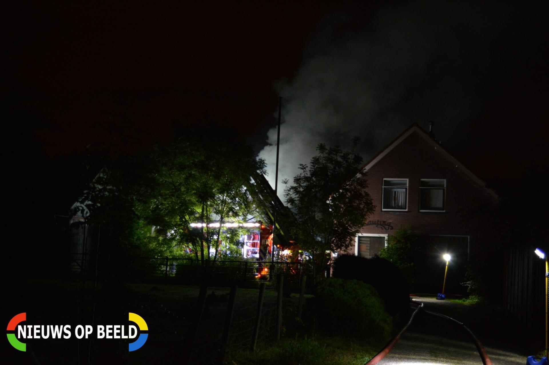 Grote brand in paardenstal Heveringseweg Oostvoorne